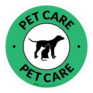 Pet Care Circle - Floor Sign