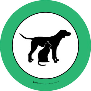Pet Care Graphic Circle - Floor Sign