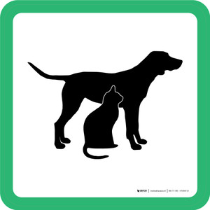 Pet Care Graphic Square - Floor Sign