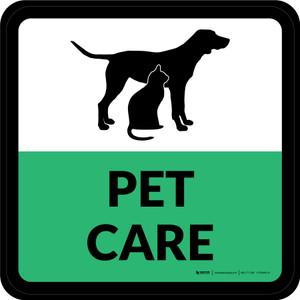 Pet Care Square - Floor Sign