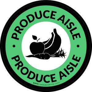 Produce Aisle Circle - Floor Sign
