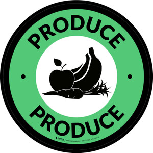 Produce Circle - Floor Sign