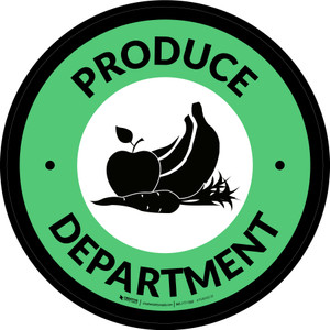 Produce Department Circle - Floor Sign