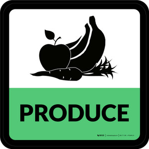 Produce Retail Square - Floor Sign