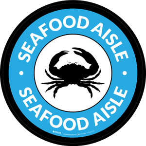 Seafood Aisle Circle - Floor Sign