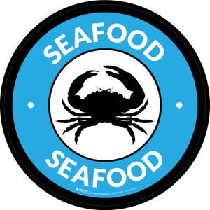Seafood Circle - Floor Sign