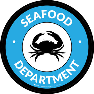 Seafood Department Circle - Floor Sign