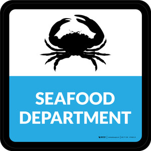 Seafood Department Square - Floor Sign