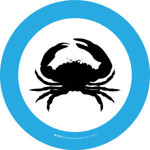 Seafood Graphic Circle - Floor Sign