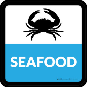 Seafood Square - Floor Sign