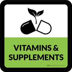 Vitamins & Supplements Square - Floor Sign