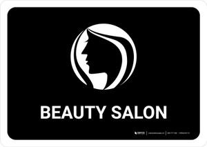 Beauty Salon Black Landscape - Wall Sign