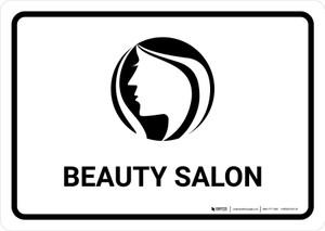 Beauty Salon White Landscape - Wall Sign