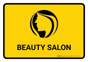 Beauty Salon Yellow Landscape - Wall Sign