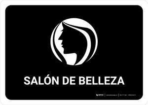Beauty Salon Black Spanish Landscape - Wall Sign