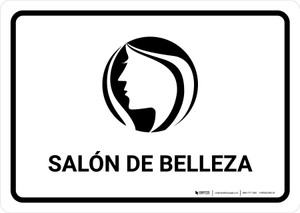 Beauty Salon White Spanish Landscape - Wall Sign