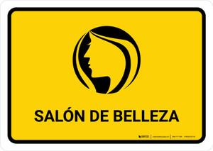 Beauty Salon Yellow Spanish Landscape - Wall Sign