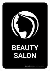 Beauty Salon Black Portrait - Wall Sign