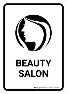 Beauty Salon White Portrait - Wall Sign