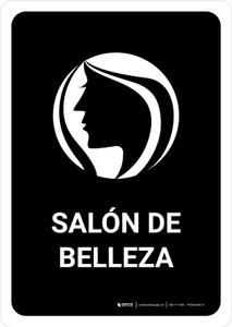 Beauty Salon Black Spanish Portrait - Wall Sign