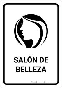 Beauty Salon White Spanish Portrait - Wall Sign
