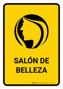 Beauty Salon Yellow Spanish Portrait - Wall Sign