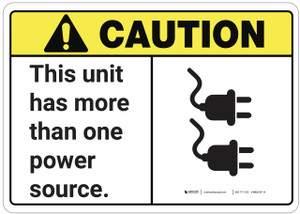Caution: This Unit Has More Than One Power Source ANSI - Wall Sign