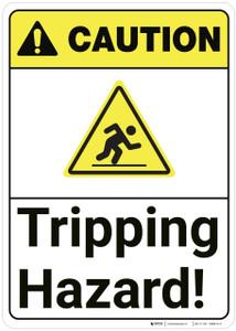 Caution: Tripping Hazard ANSI - Wall Sign