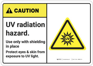 Caution: UV Radiation Hazard ANSI - Wall Sign