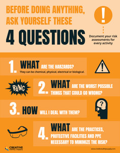 4 Big Questions of Lab Safety - Poster
