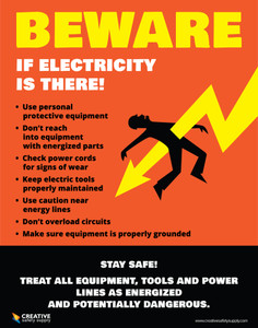 Beware if Electricity is There - Poster