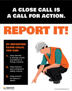 Close Call Report It - Poster