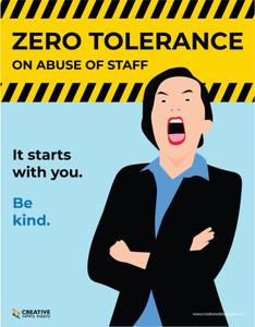 Zero Tolerance On Abuse of Staff - Poster