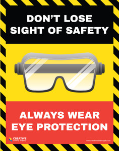 Don't Lose Sight of Safety Wear Eye Protection - Poster