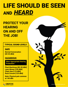 Life Should be Seen and Heard - Protect Your Hearing - Poster