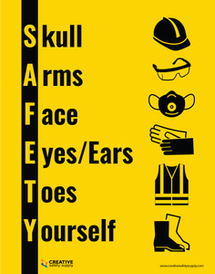 Safety PPE with Icons - Poster
