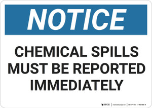 Notice: Hazard Report Chemical Spills - Wall Sign