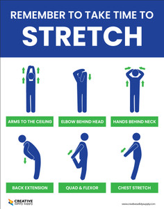 Remember to Take Time to Stretch - Poster