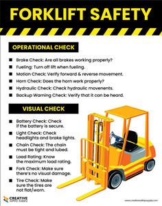 Forklift Check Safety - Poster