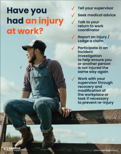 Have You Had an Injury at Work? (Agriculture Safety) - Poster