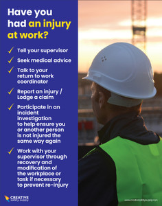 Have you Had an Injury at Work? (Construction Safety) - Poster