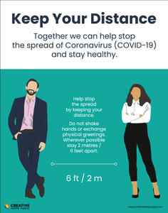 Keep Your Distance Coronavirus Covid Safety - Poster