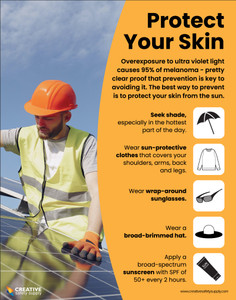 Protect Your Skin (Construction Safety) Safety - Poster