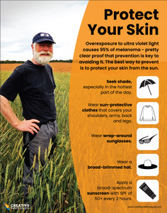 Protect Your Skin (Farming Safety) - Poster