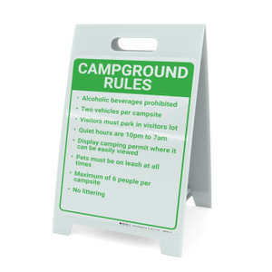 Campground Rules Portrait - A-Frame Sign
