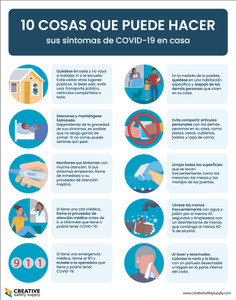 10 Things You Can Do To Manage Your Covid-19 Symptoms At Home Spanish - Poster