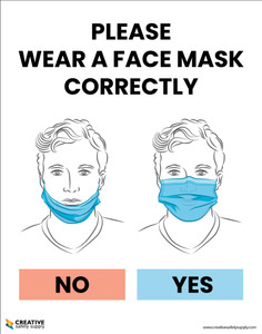 Please Wear A Face Mask Correctly - Poster