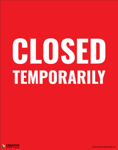Closed Temporarily - Poster