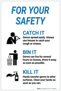 For Your Safety: Catch It Toss It Kill It - Label
