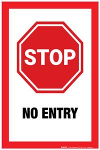 Stop: No Entry - Label